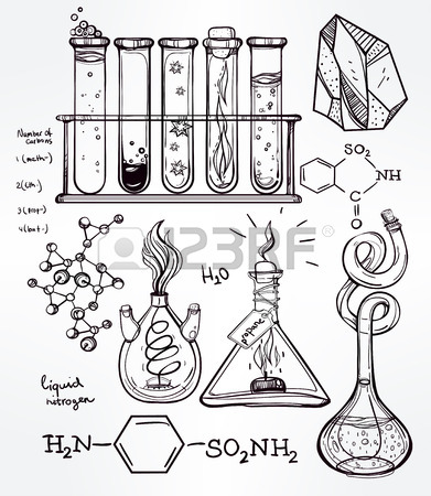 391x450 Hand Drawn Science Beautiful Vintage Lab Icons Sketch Set Vector