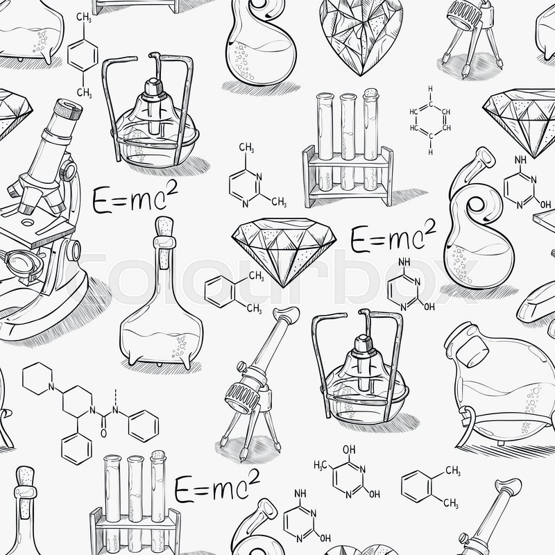 Chemistry Lab Vector Illustration - Download Free Vectors ... |Lab Chemist Drawings