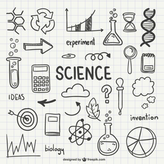 626x626 Science Drawn Icons Vector Free Download