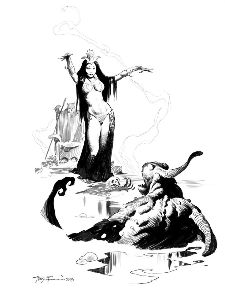 736x952 300 Fantasy Amp Science Fiction Ink Drawings 300 Fantasy Amp Science