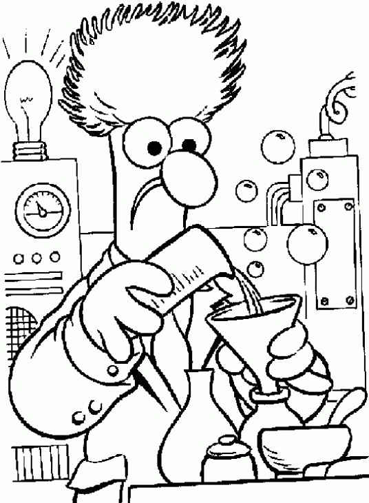 536x730 A Scientist Working In His Lab Science Coloring Page Fun
