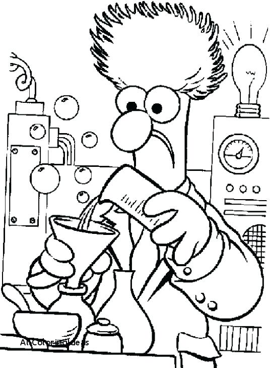 536x730 Mad Scientist Coloring Sheets Pages Science Meet The A Working