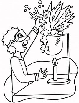 268x349 Printable Science Lab Coloring Pages