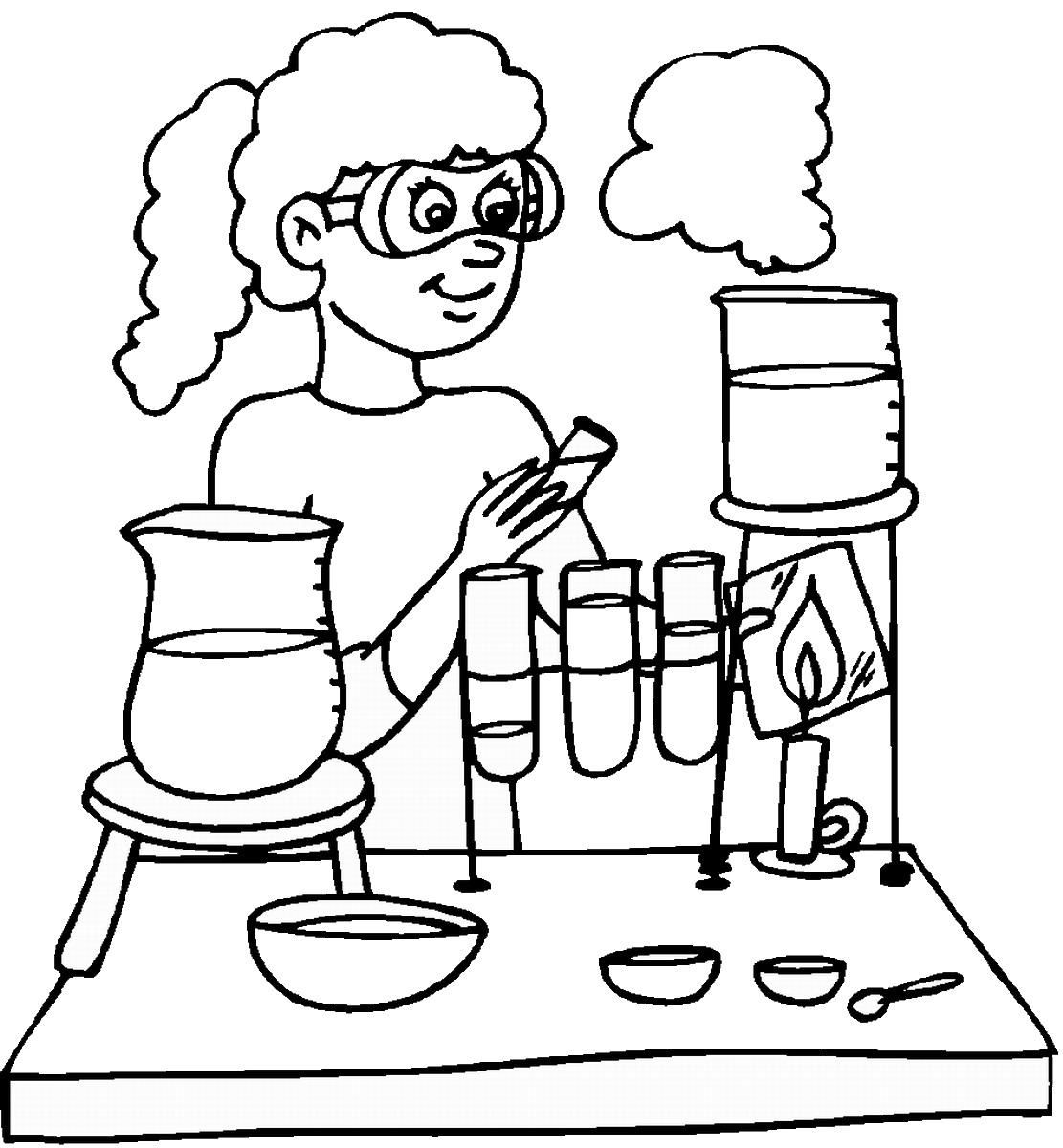 1111x1200 Science Coloring Free Printable Good Free Printable Science