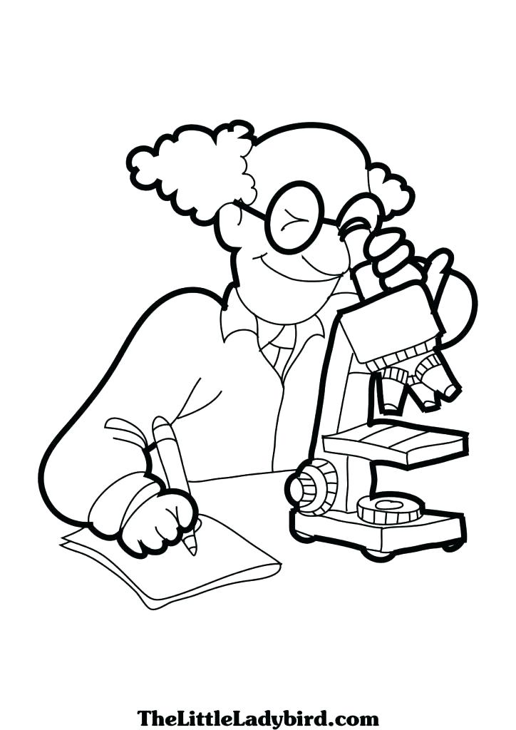 724x1024 Coloring Pages Science Science Coloring Books And Microscope Free