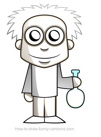 335x457 Nice Picture Of A Cartoon Scientist Scientist Drawing Sketching
