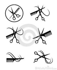 236x288 Vector Silhouette Of Scissors Cutting Hair Vector Icon Scissors
