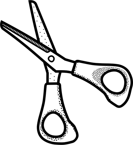 458x500 Small Scissors Line Art Vector Illustration Public Domain Vectors