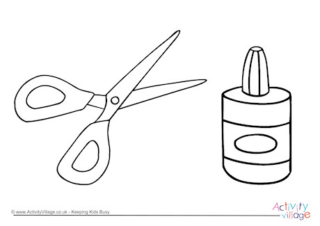 460x325 And Scissors Colouring Page