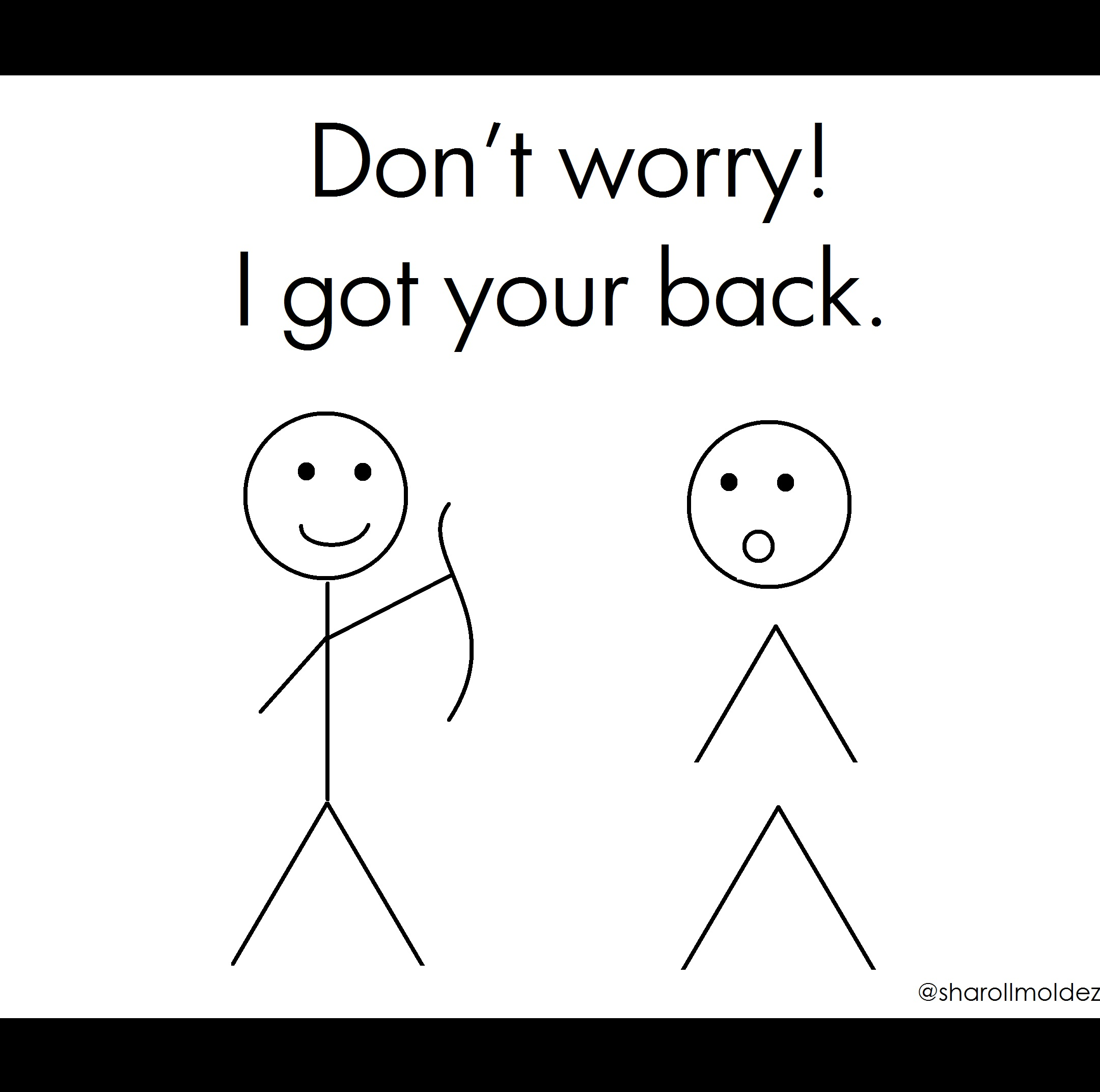 2160x2144 Don'T Worry! I Got Your Back. Curved Back. Twisted Spine. Bent