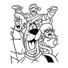 Scooby Doo Cartoon Drawing