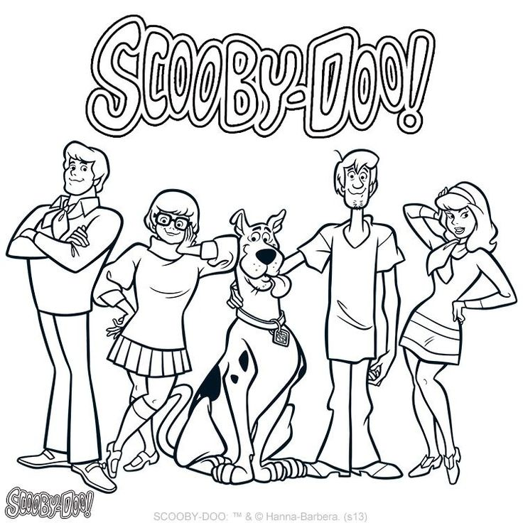 736x736 Fancy Scooby Doo Color Pages 69 For Your Fee With Scooby Doo Color