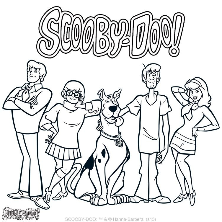 752x752 Scooby Doo Coloring Page Scooby Doo Birthdays