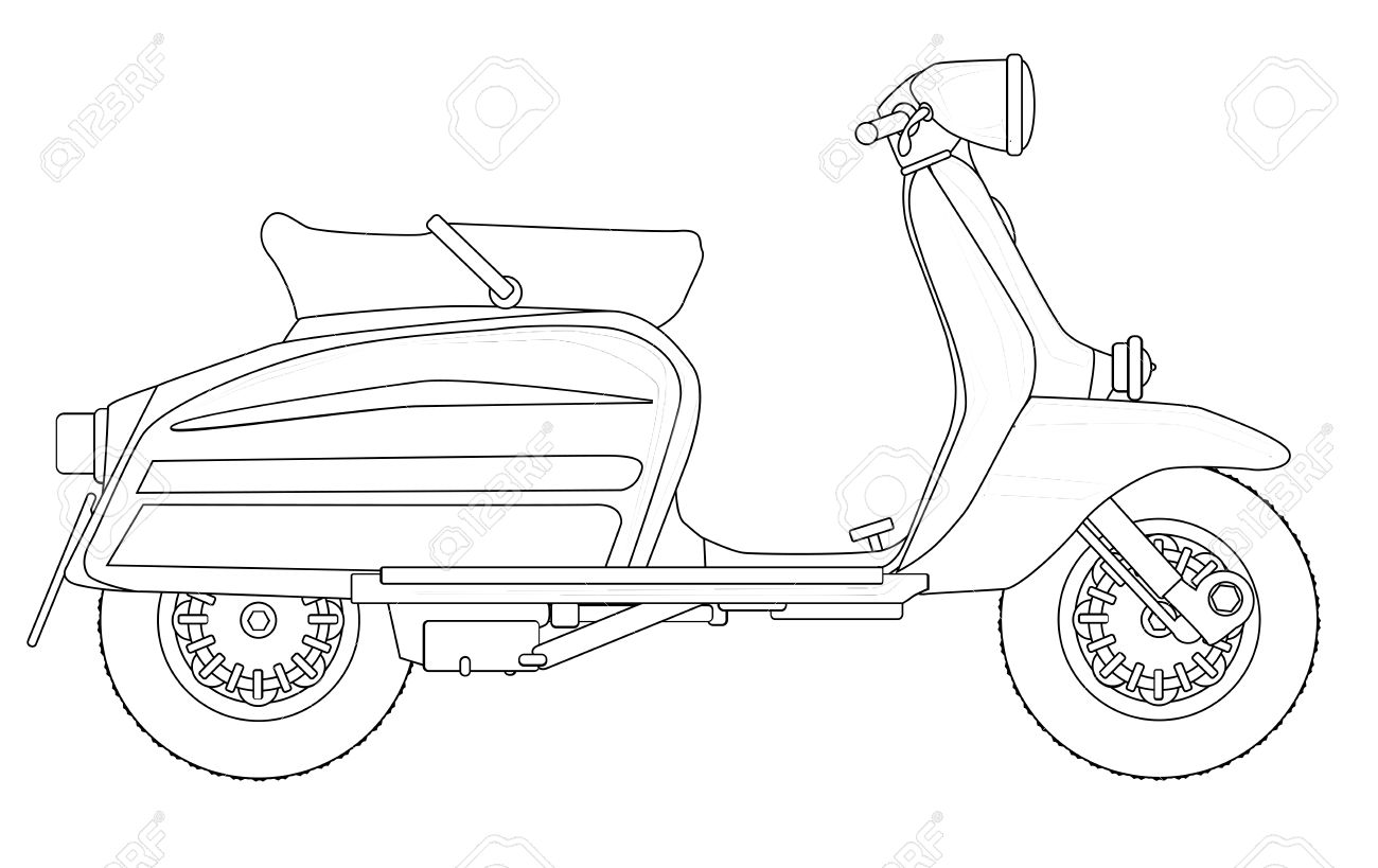 Scooter Drawing