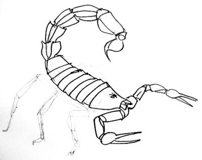 400x317 How To Draw A Scorpion