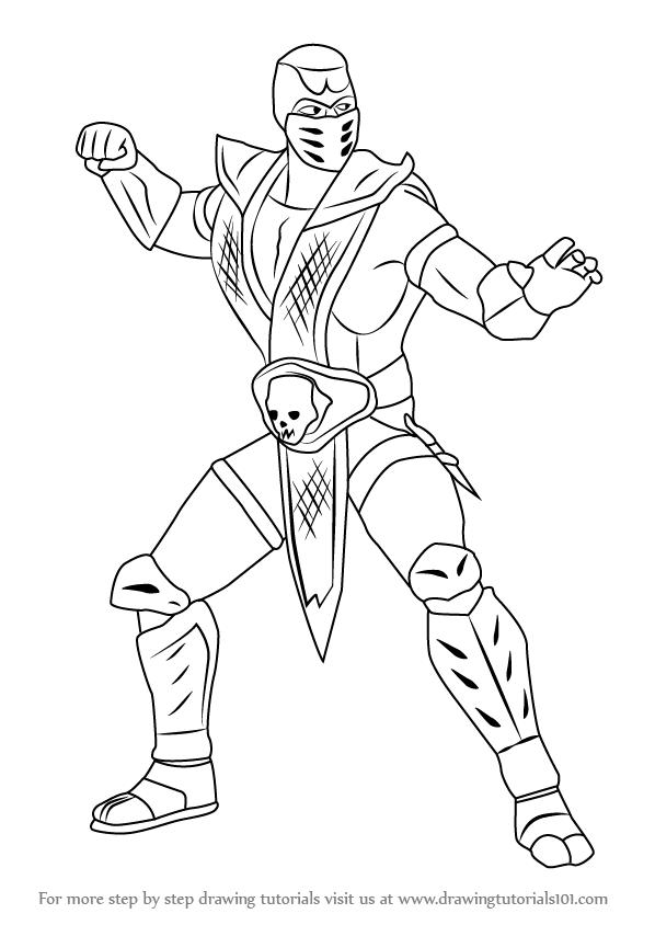 598x844 Learn How To Draw Scorpion From Mortal Kombat (Mortal Kombat) Step