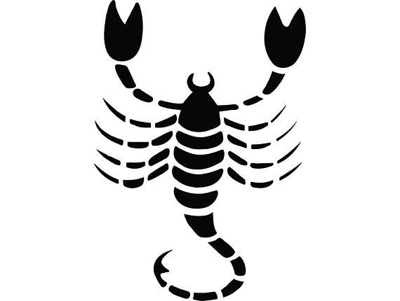 570x430 Zodiac Sign Scorpio Scorpion Astrology Horoscope Svg Eps Png
