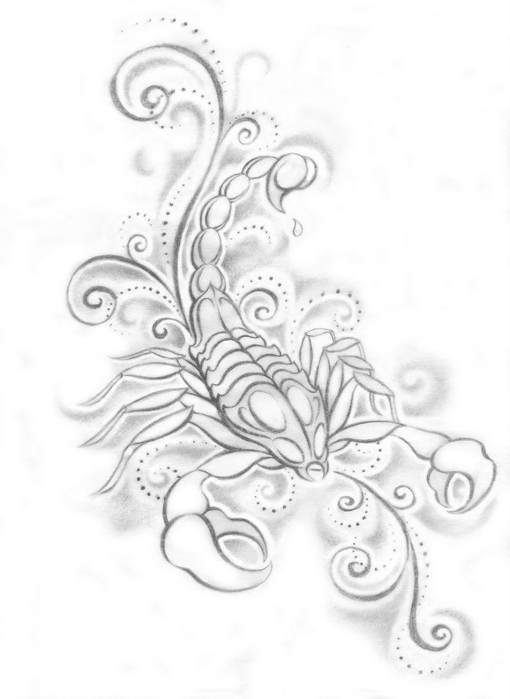 Scorpion Line Drawing