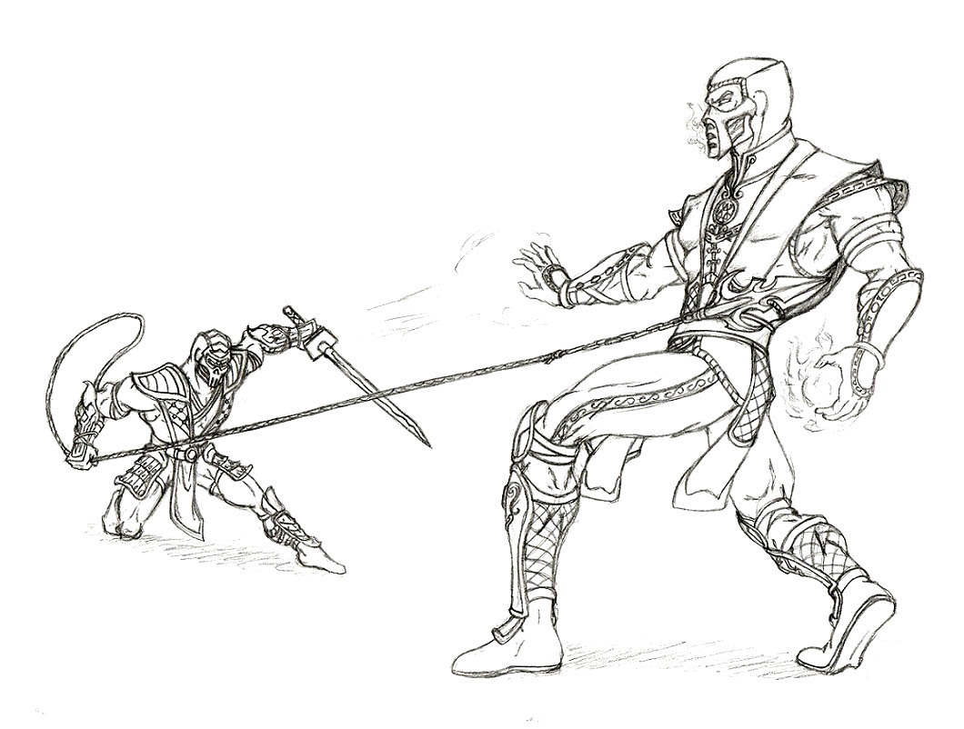 1060x802 Drawn Scorpion Coloring Page