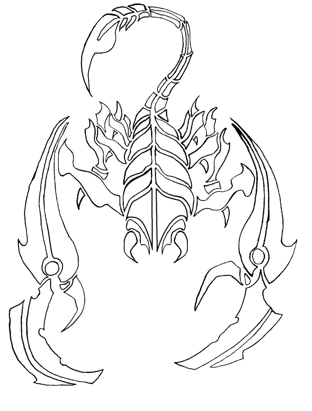1024x1347 Images Scorpion Line Drawings
