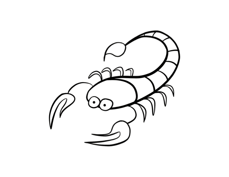 792x612 Scorpion Coloring Page Colordad