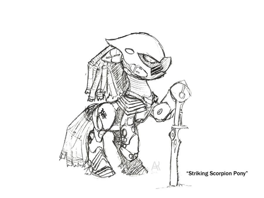900x675 Striking Scorpion Pony By Poniesofthekeene