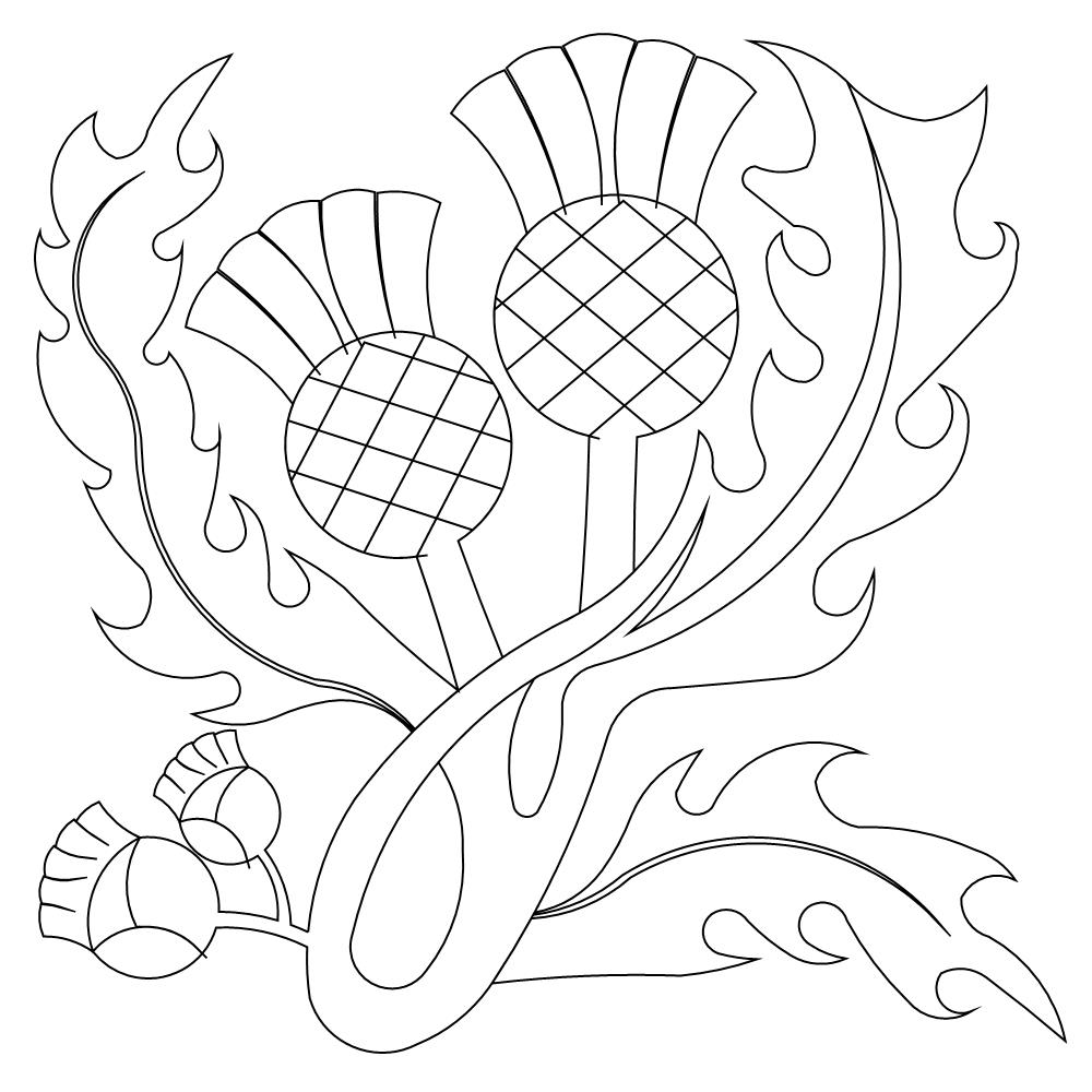 scottish coloring pages | Scotch Thistle Drawing at GetDrawings.com | Free for ...
