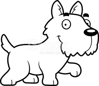 346x299 Cartoon Scottie Walking Stock Vectors