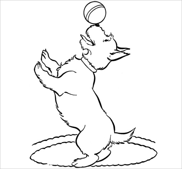 585x544 Scottie Dog Templates, Crafts Amp Colouring Pages Free