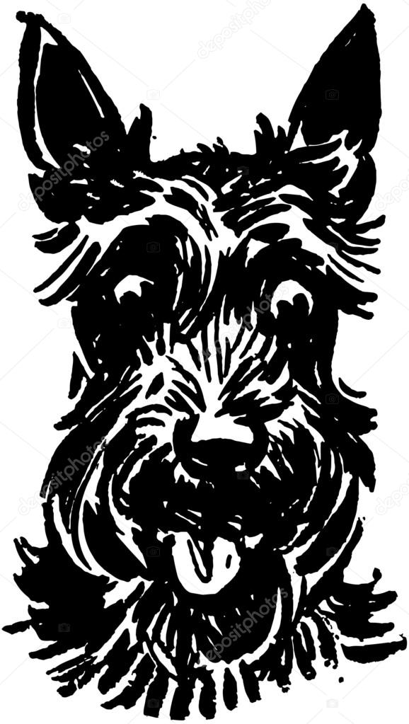 578x1023 Scottie Dog Stock Vector Retroclipart