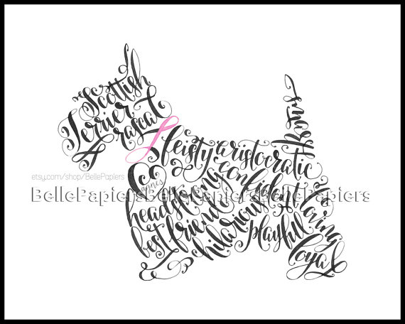 570x456 Scottish Terrier Portrait Personalized Pet Painting Scottish