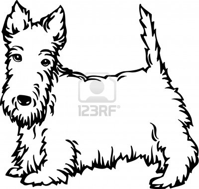 400x379 Scottie Dog Outline Scottie Mania! Dog Outline