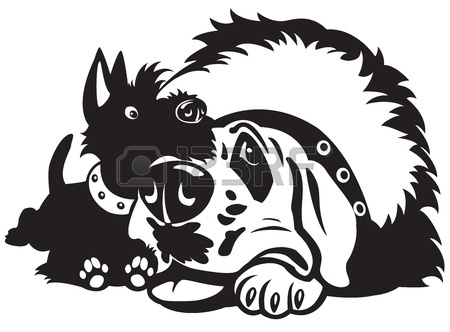 450x332 Scottish Terrier Hand Drawing Isolated Vecotr Object Royalty Free