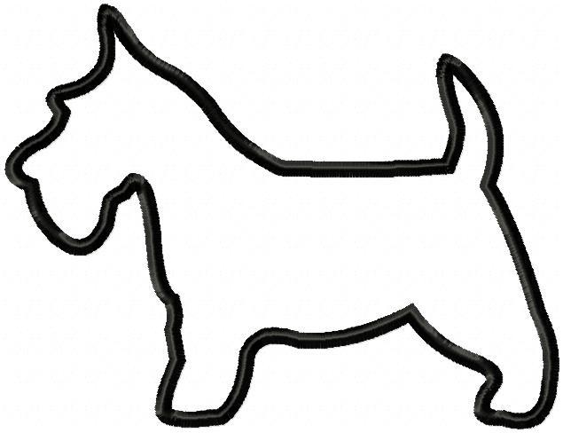 635x488 Applique Scottie Dog (3 Sizes!)