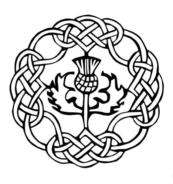 570x605 Items Similar To Celtic Scottish Thistle Braided Ring