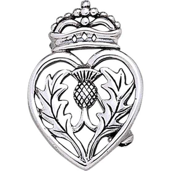 555x555 Crowned Scottish Thistle Brooch