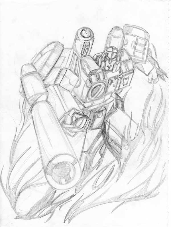 600x799 Megatron Scrap Drawing By Scream01