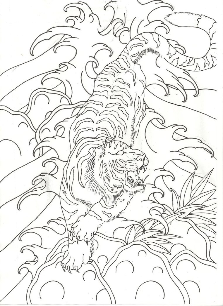 762x1048 When Tigers Stalk Scrap By Lucky Cat Tattoo