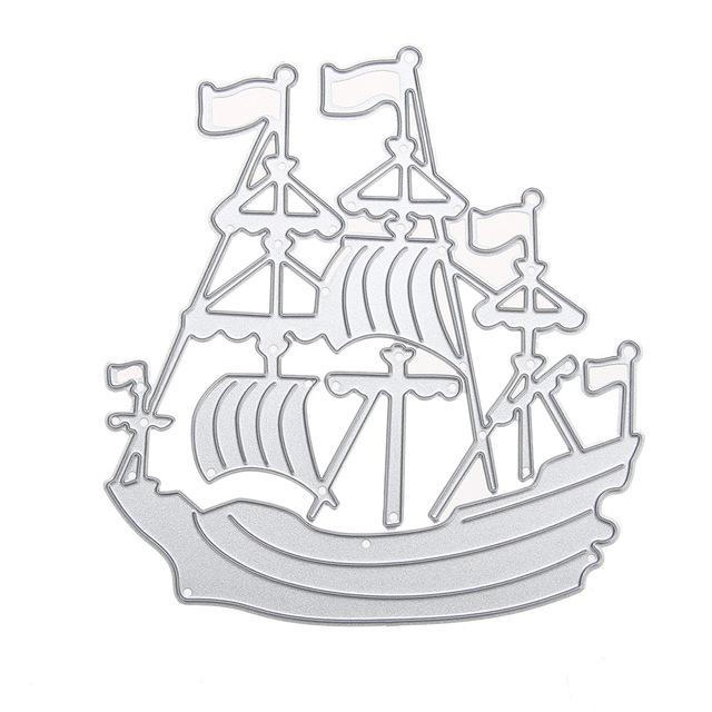640x640 Sea Rover Ship Diy Metal Cutting Dies Sailing Boat For Scrapbook