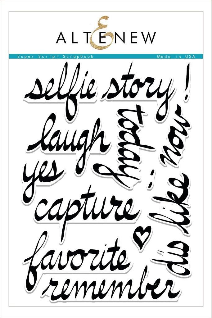 683x1024 Super Script Scrapbook Stamp Set Altenew