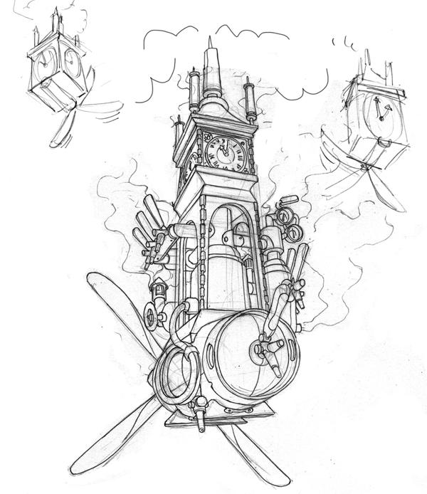 600x694 Scratchboard Drawings For Steamworks Beer Labels On Illustration