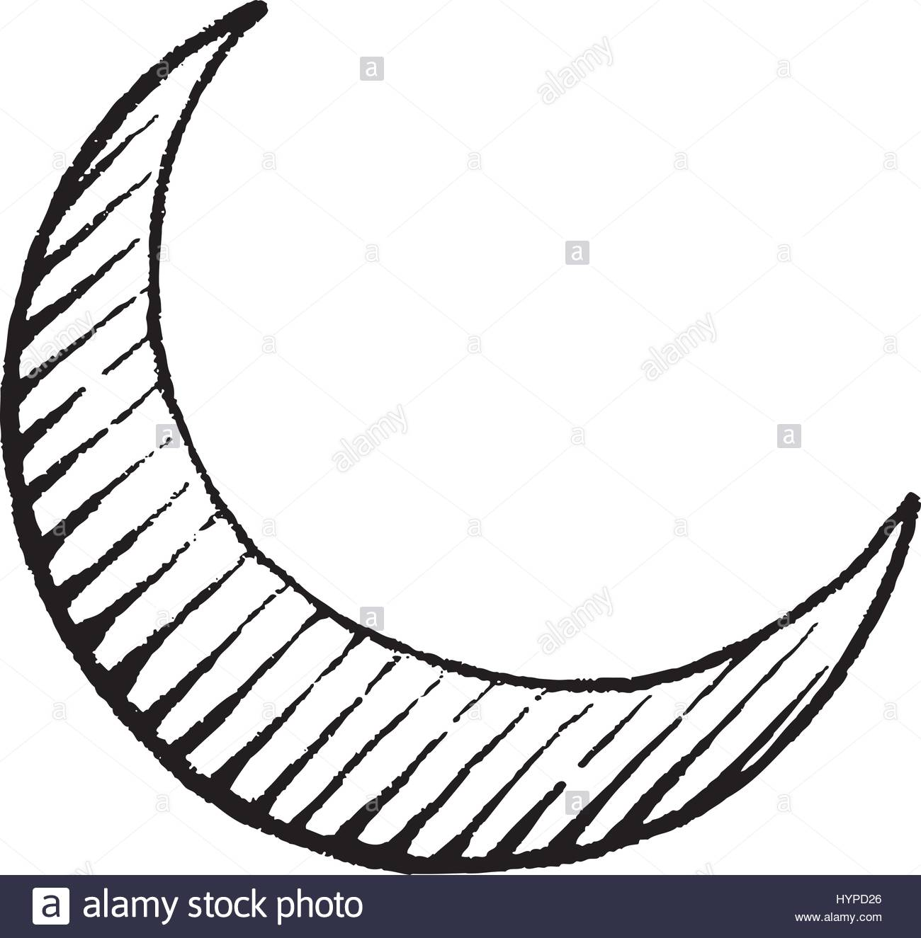 1300x1325 Vector Illustration Of A Scratchboard Style Ink Drawing Of Moon