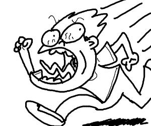 300x250 Man Run In And Funny Scream