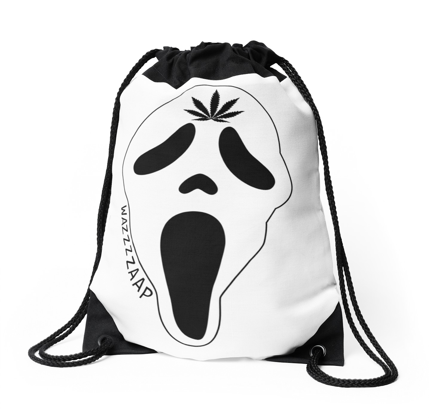 1435x1404 Scream Wazzaap! Drawstring Bags By Rebeccapickell Redbubble