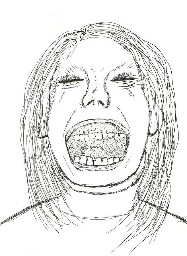 657x900 Scream Like A Little Girl Drawing By Shawn Ballard