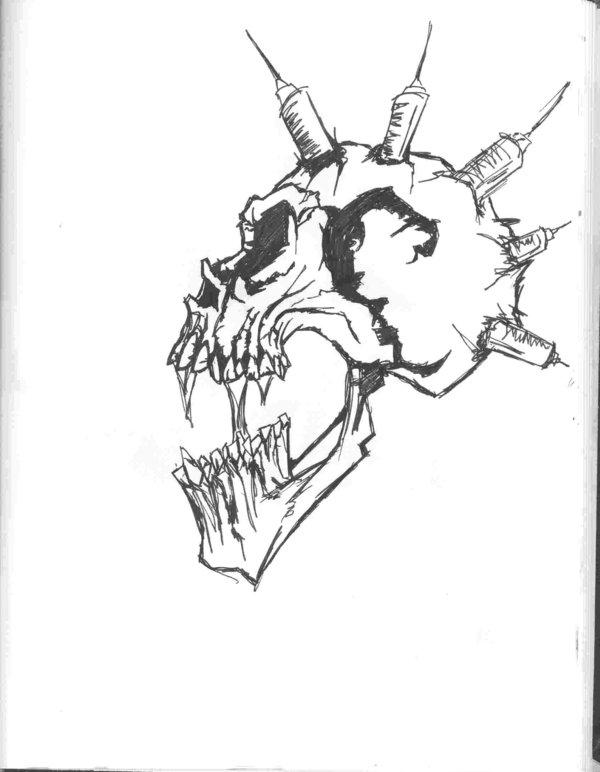 600x772 Skull Scream By Justinbysma