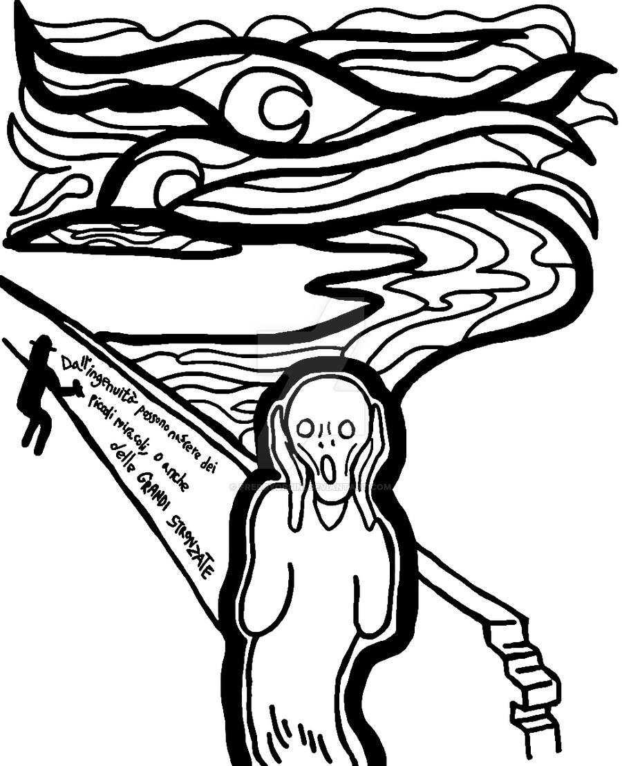900x1108 The Scream Munch By Freddyorsini