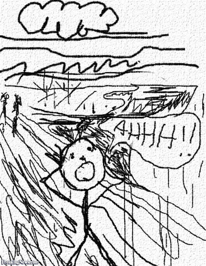 800x1034 The Scream By A Three Year Old Pictures
