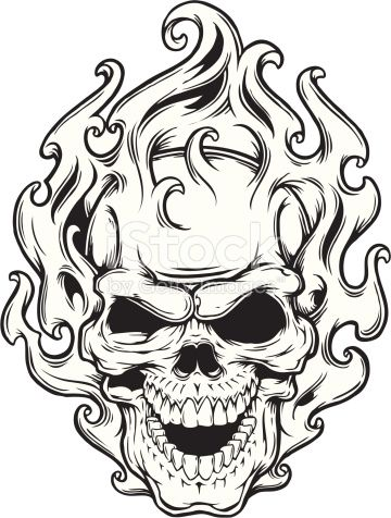 Screaming Skull Drawing