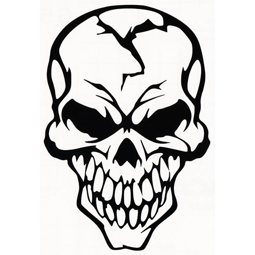 500x500 screaming skull wall decal